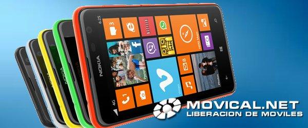 Libera tu nokia lumia 625 con movical gracias a un proceso - Movical net liberar ...