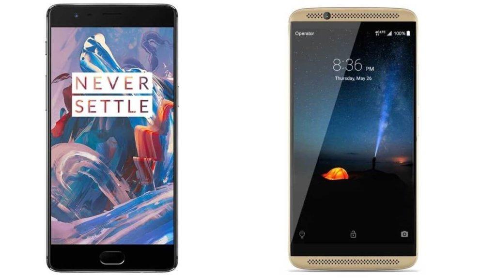 Axon 7 vs OnePlus 3 - Gama alta y precios bajos