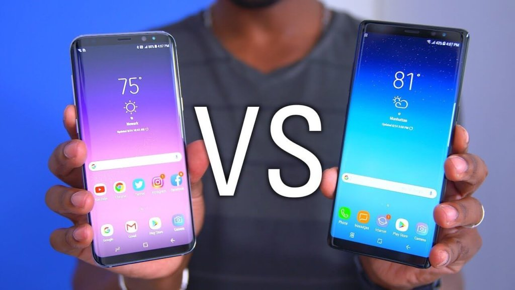 Samsung Galaxy Note 8 vs Galaxy S8+