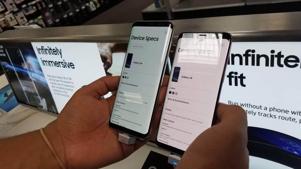 Pantalla roja en el Samsung Galaxy S8