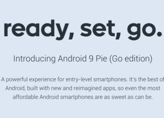Android 9 Pie Go Edition