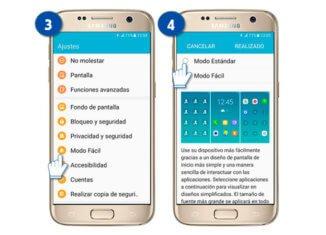 activar modo fácil en un Samsung