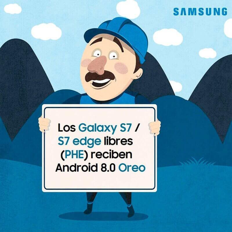 Galaxy S7 Android 8 Oreo