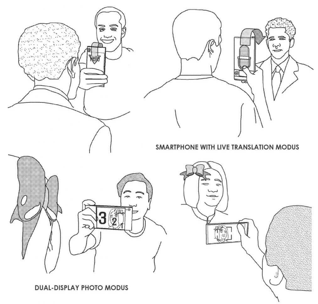 móvil con pantalla envolvente