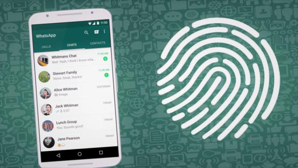 bloquear WhatsApp con la huella dactilar